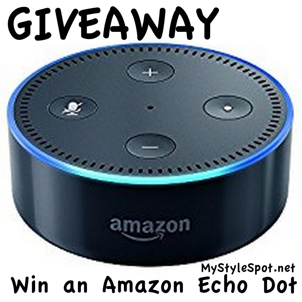 giveaway win an amazon echo dot mystylespot. Black Bedroom Furniture Sets. Home Design Ideas