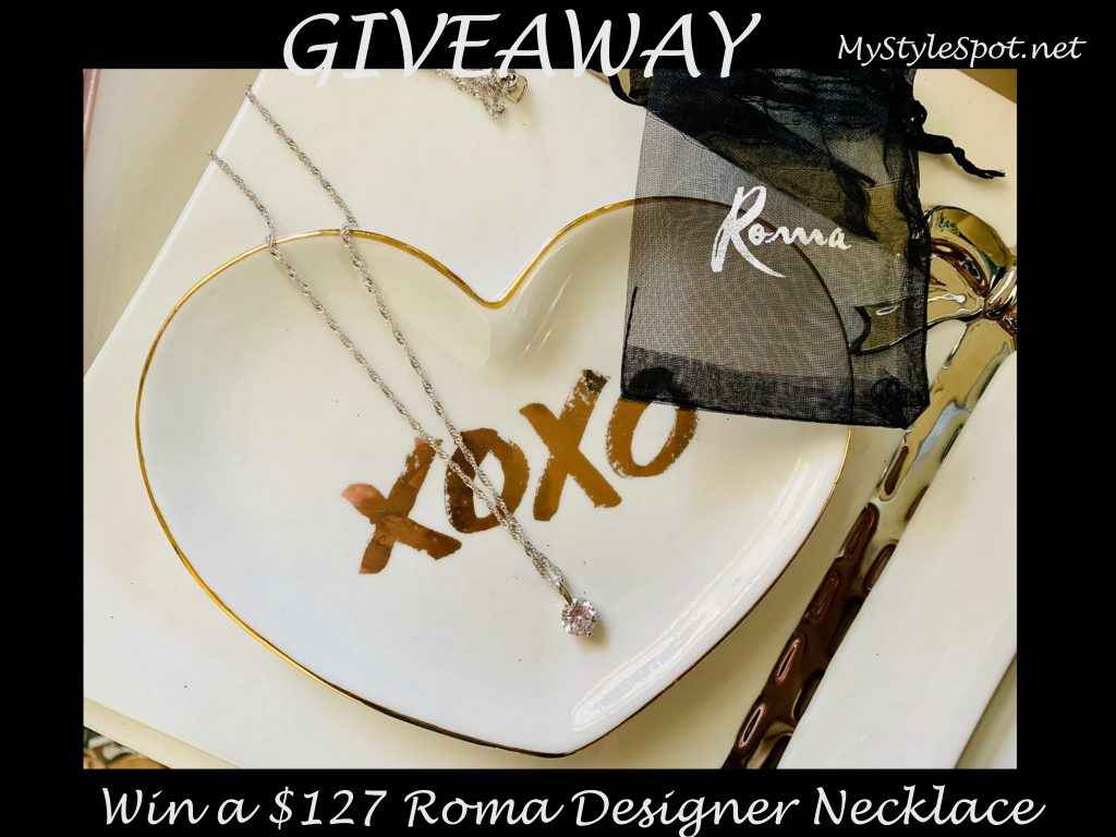 GIVEAWAY: Win a $127 Roma Designer Jewelry Necklace + Tons of Other Prizes