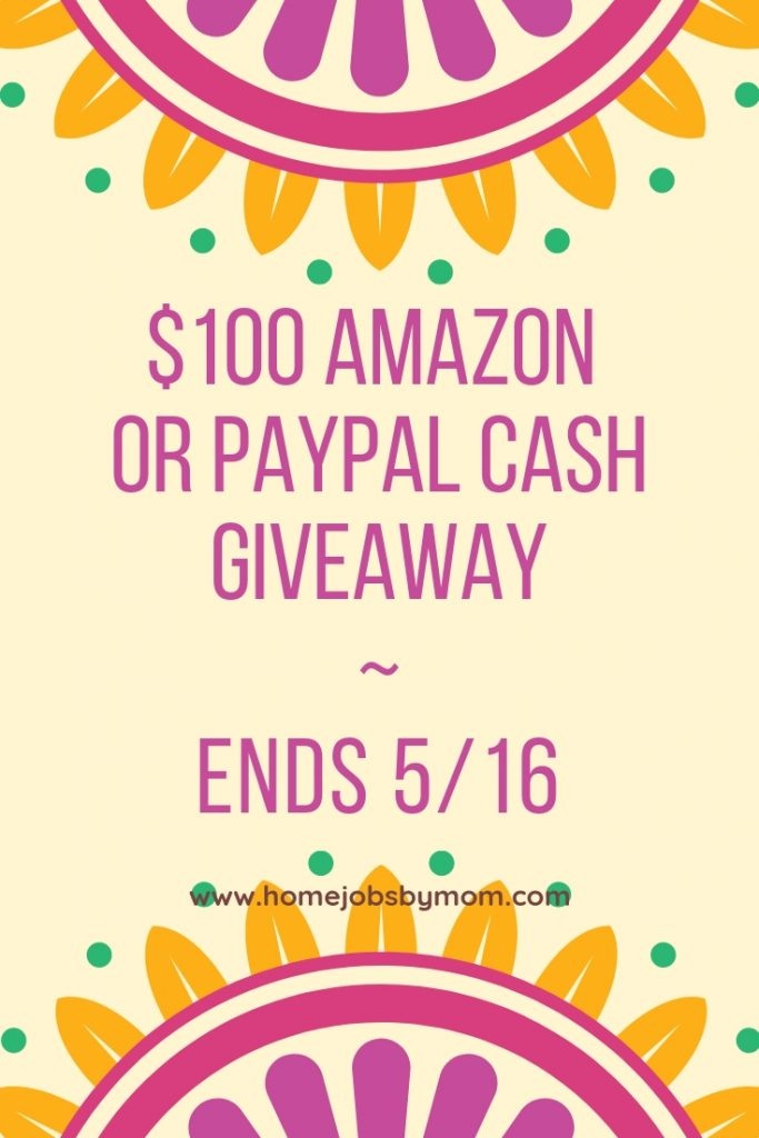 Giveaway - win $100 amazon gift card or paypal cash