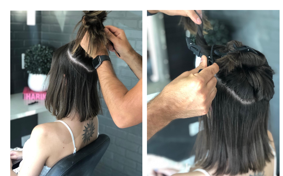 How to Apply Velo Extensions to Thick Short Hair by Tony Odisho