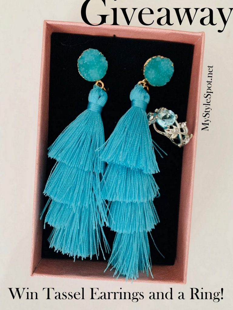Enter to win gorgeous tassel earrings and a ring