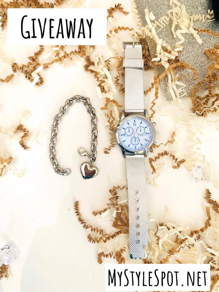 Enter to win a chic ladies watch and heart bracelet