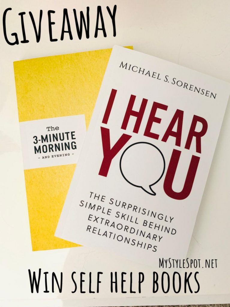 Enter to win self help books on communication