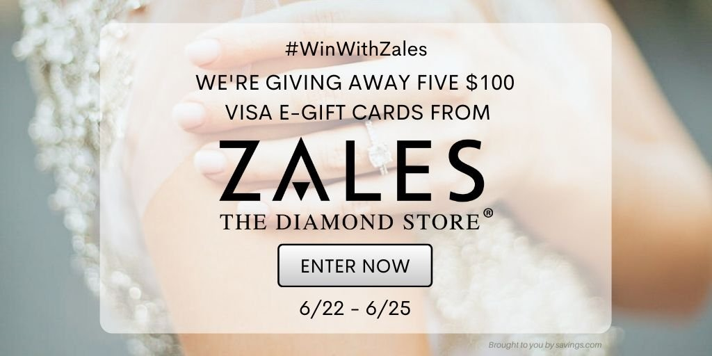 Enter to win a $100 zales gift card