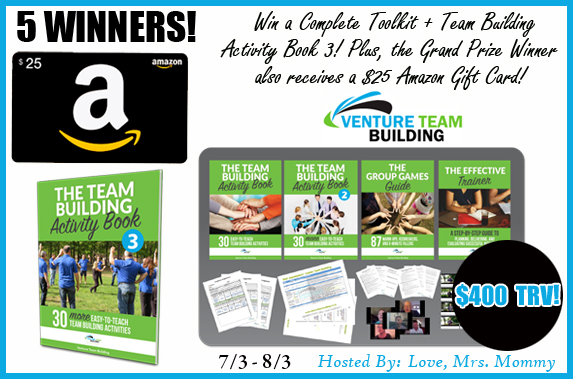 Enter to win an amazon git card and other fab prizes  - 5 WINNERS!