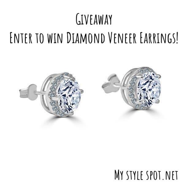 Enter to win $100 Diamond veneer stud earrings!