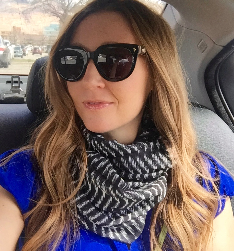 stella sunnies and scarf