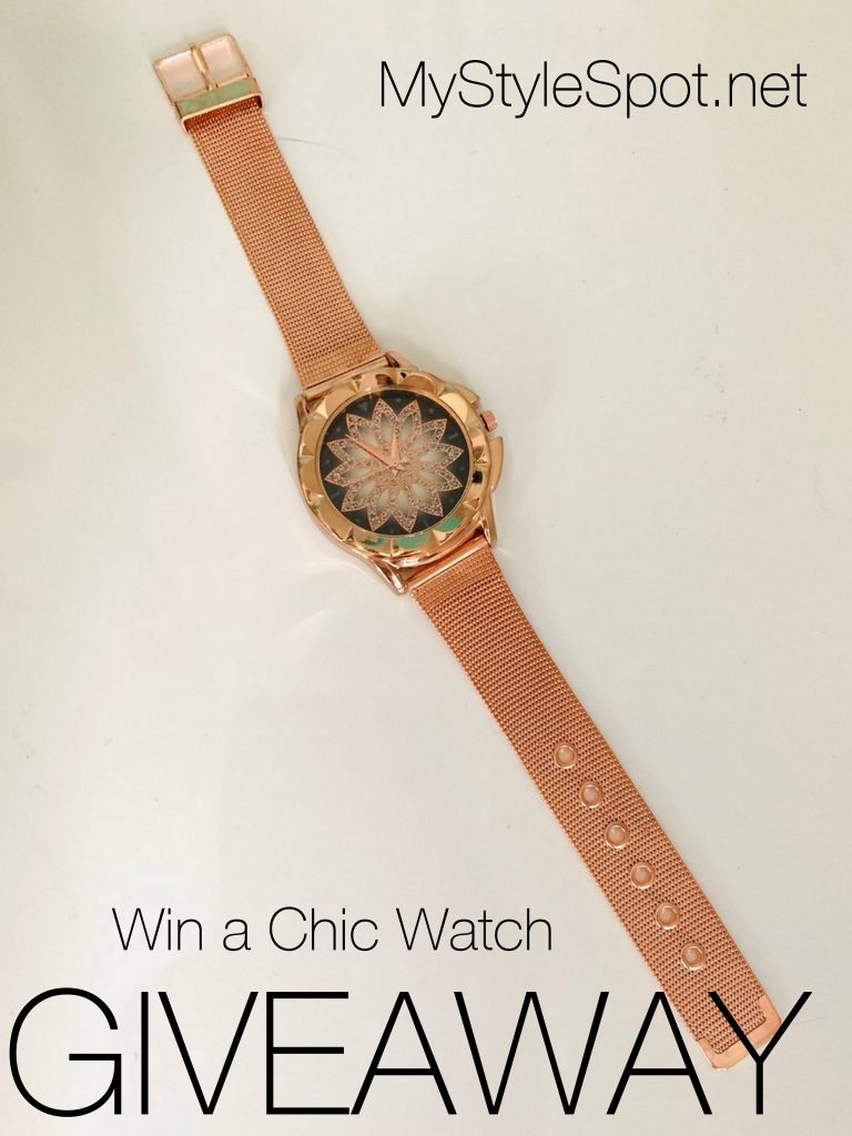 GIVEAWAY: Win a Chic Watch