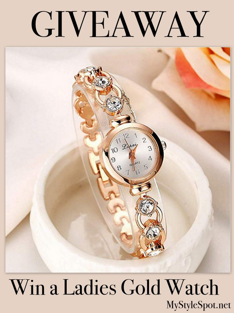 GIVEAWAY: Win a Chic Ladies Gold Watch