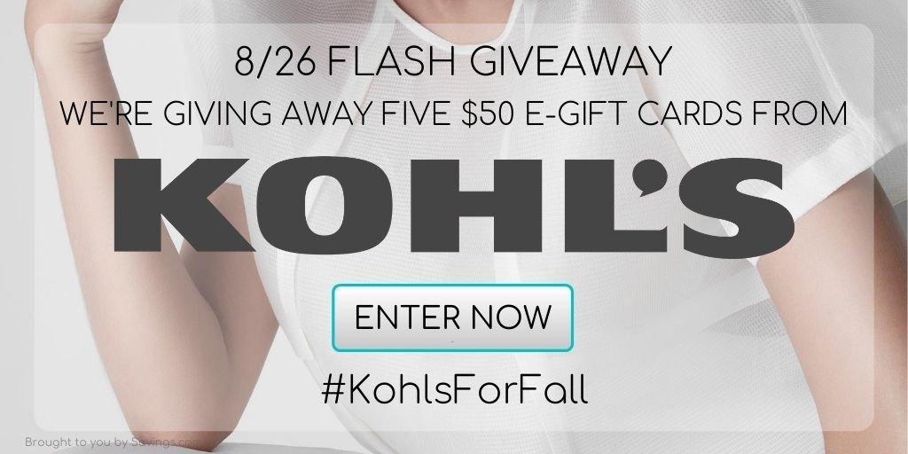 Enter to win $100 kohls gift card