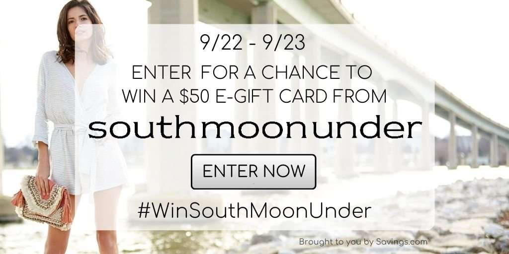 Enter to win a $50 southmoon under fashion giveaway - 5 winners