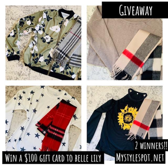 GIVEAWAY: Enter to Win a $100 Fashion Shopping Gift Card to BelleLily - 2 WINNERS