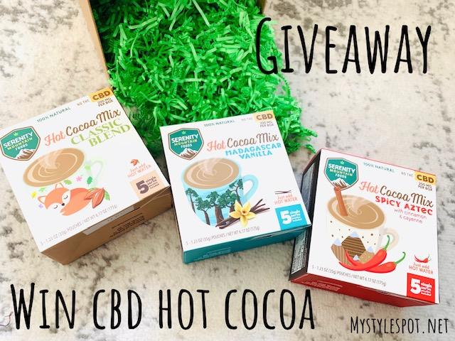 ENTER TO WIN all 3 boxes of CBD Hot Cocoa
