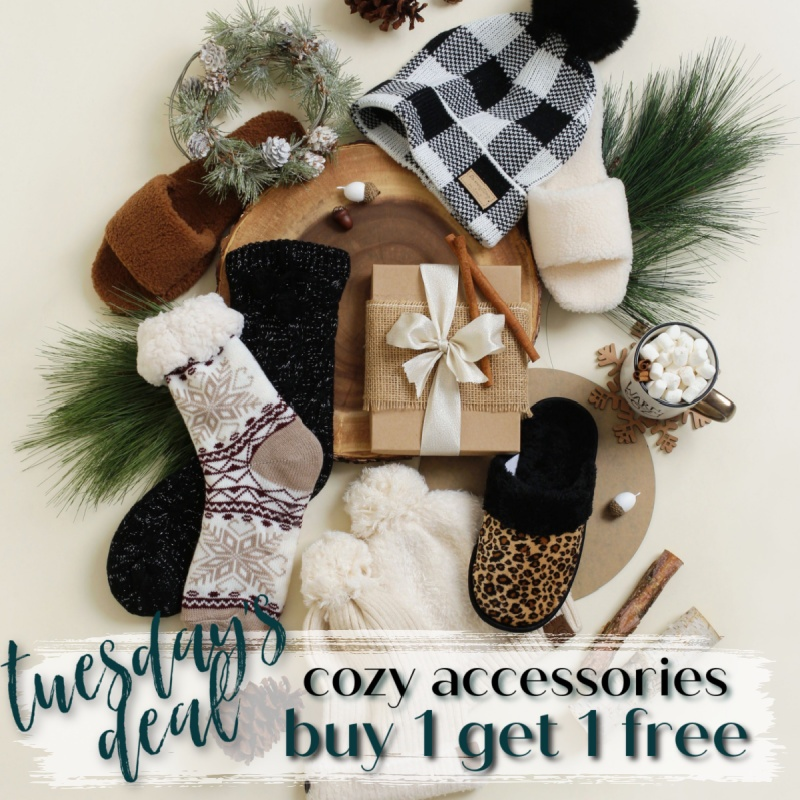 BLACK FRIDAY DEALS: BOGO Cozy Accessories - Starting Now!