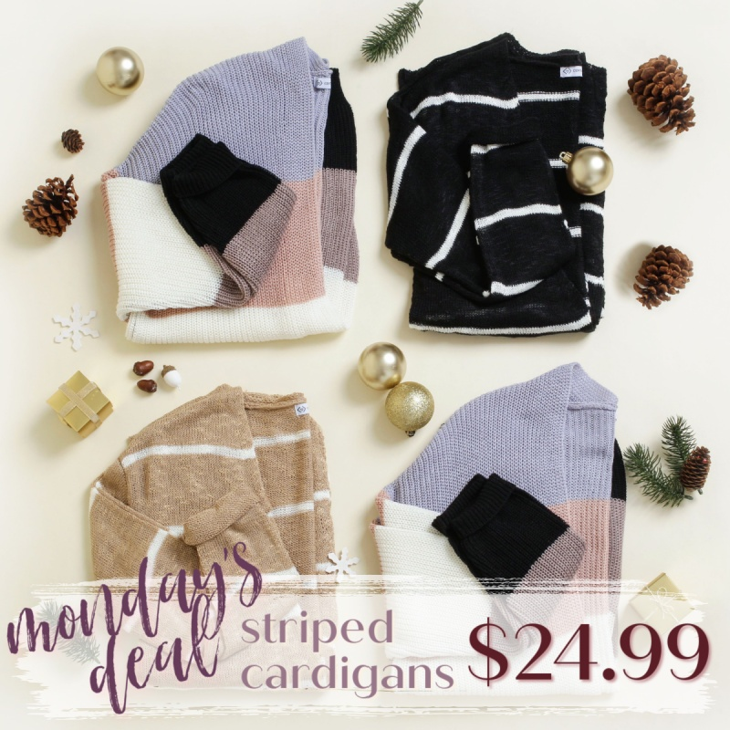 BLACK FRIDAY DEALS STARTING NOW: Striped Cardigans $24