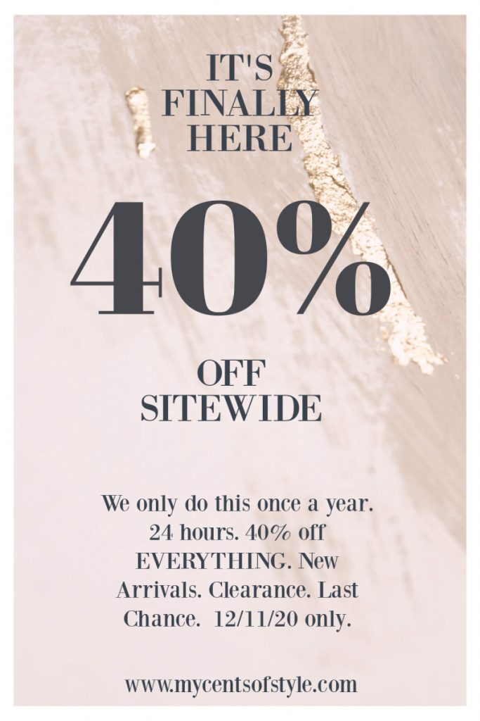 GET 40% OFF Cents of Style Fashion Sitewide- TODAY ONLY!