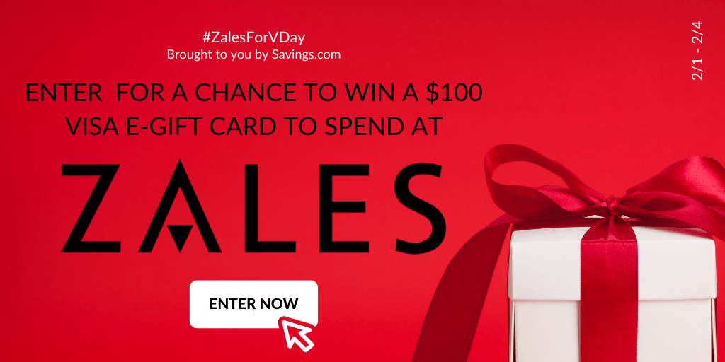 Enter to Win a $100 Zales gift card- 5 winners