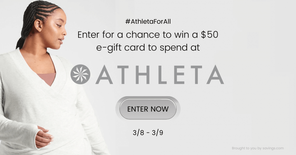 GIVEAWAY: Enter to Win a $50 Athleta Gift Card - 5 WINNERS