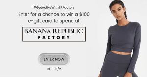 GIVEAWAY: Enter to Win a $100 Banana Republic Gift Card - 5 WINNERS