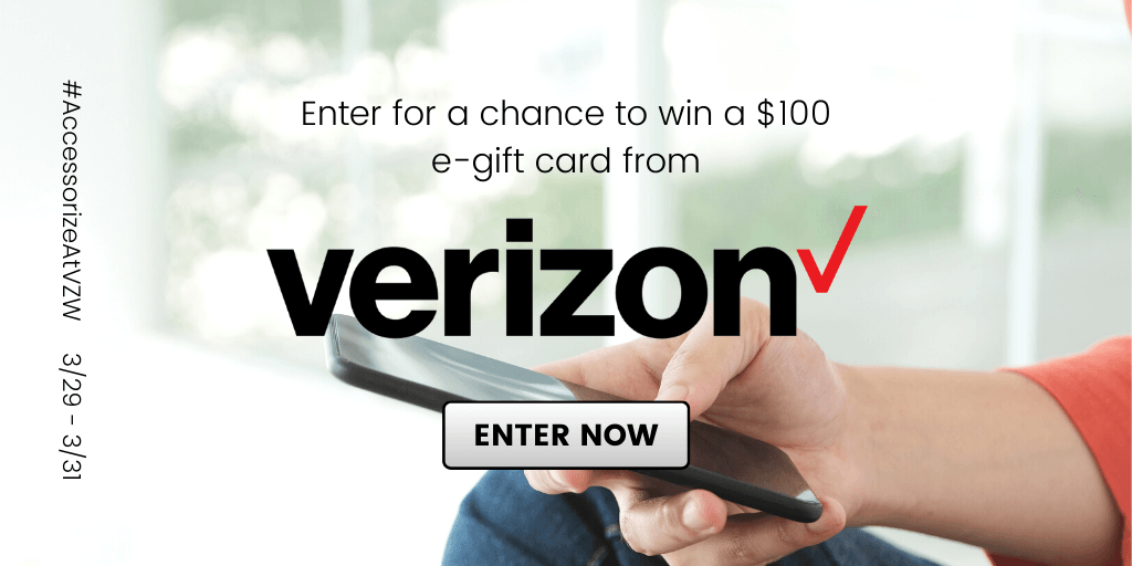 GIVEAWAY: Enter to Win a $100 Verizon Gift Card - 5 WINNERS
