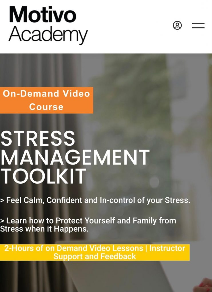 Amazing Course to Live Stress-Free from Motivo Academy: Try it at 50% OFF!