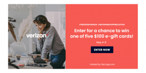 GIVEAWAY: Enter to Win A $100 Verizon Wireless Gift Card for Mom - 5 WINNERS