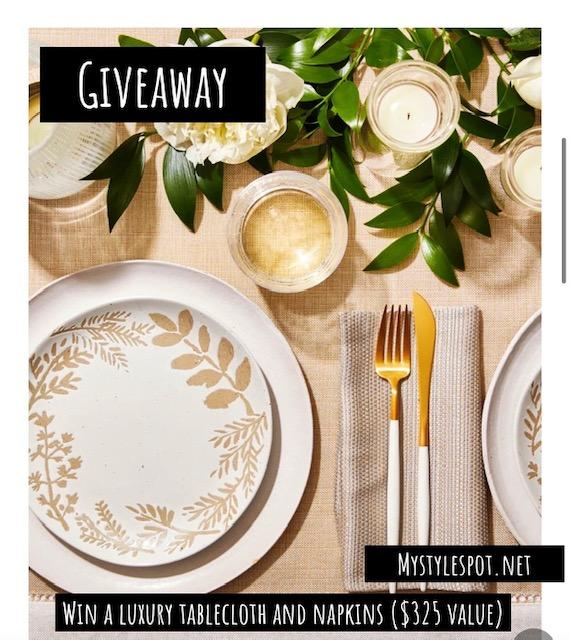 GIVEAWAY: Enter to Win a Custom Tablecloth & Set of Matching Napkins from Loom & Table ($325 Value!)