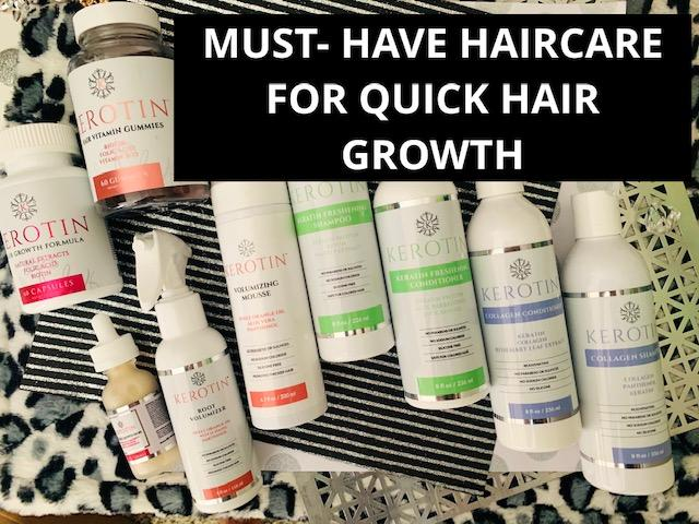 Get 15% off my Must-Have Hair Care Products for maximum Hair Growth from Kerotin!