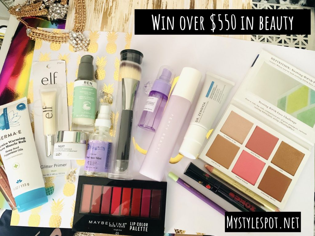 GIVEAWAY: Enter to Win over $550 in Beauty