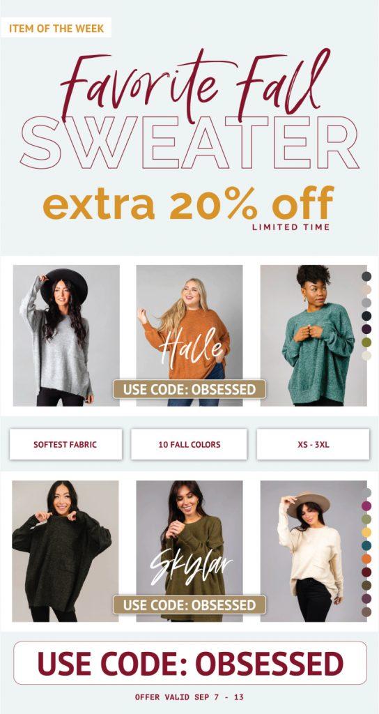 Ladies Oversized Sweaters - Extra 20% OFF