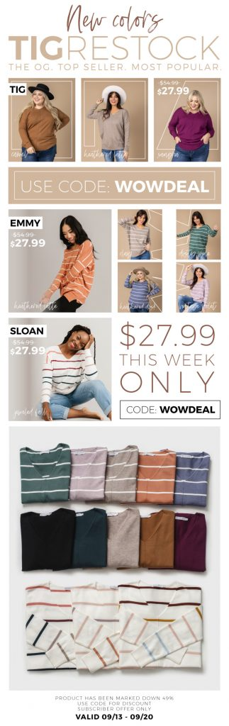 Cozy Ladies Sweaters at $27 OFF + FREE SHIPPING over $35