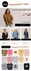 Ladies Cozy Sweatshirts & Hoodies Extra 20% OFF - Starting at $15