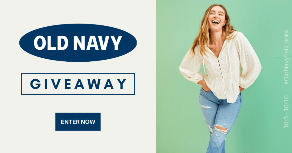 GIVEAWAY: Enter to Win a $100 Old Navy Gift Card - 5 WINNERS